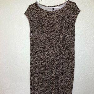 Talbots NWOT Women's Cheetah Print Dress Size XL